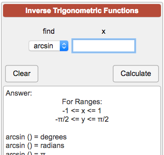 how to find inverse trig functions on calculator