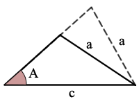 triangle ass theorem with 2 solutions